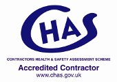 CHAS HEALTH AND SAFETY ASSESSMENT ACCREDITED CONTRACTOR LOGO
