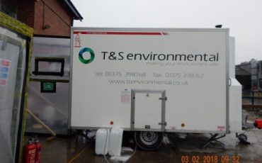 t&s environmental asbestos removal vehicle in rochester kent